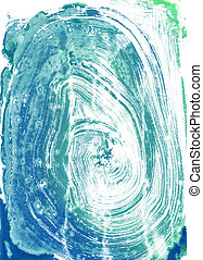 Watercolour Monoprint - monoprints created on a glass sheet...