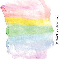 Watercolour rainbow spectrum