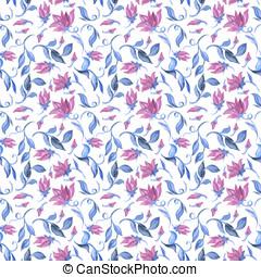 Watercolour seamless pattern - abst