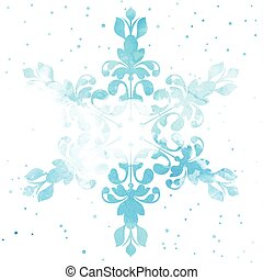 watercolour snowflake 0512 - Christmas background with a...
