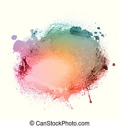 watercolour splatter 1604 - Detailed background with...
