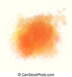 Watercolour splatter background