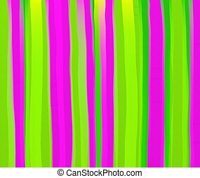 watercolour stripes - Abstract green and pink digital...