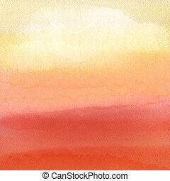 watercolour sunset background 0405
