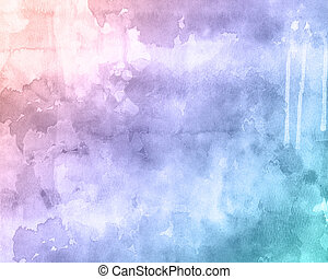 Watercolour texture background - Detailed watercolour...