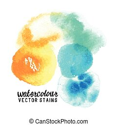 Watercolour Vector Stains