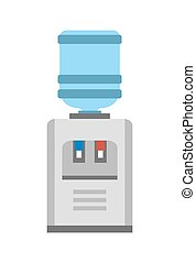 Watercooler Image Vector Illustration on White - Water...