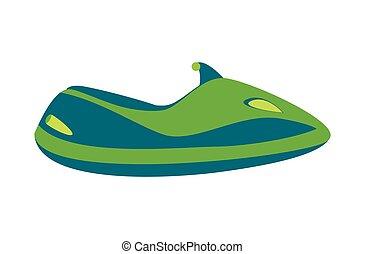 watercraft, água, bicicleta, ilustração, caricatura, ícone