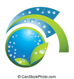waterdaling, blad