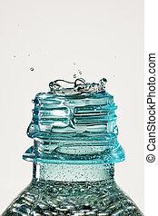 waterdaling, gespetter, fles