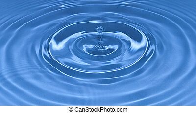 Waterdrop - A blue waterdrop