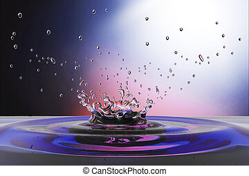 waterdrop background - blue water drop on water clean with ...