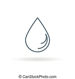Waterdrop icon on white background