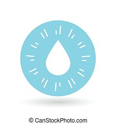 Waterdrop icon. Raindrop sign. Water symbol. Vector illustration.