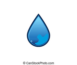waterdrop - is a symbol that symbolizes water fall, water,...