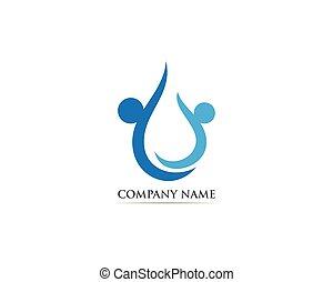 Waterdrop logo vector illustrations