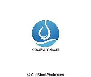 Waterdrop logo vector illustrations - Waterdrop logo vector...