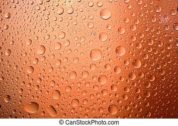 waterdrops, su, uno, steamy, finestra