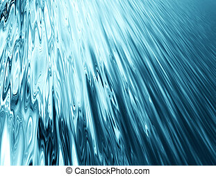 waterfall - abstract blurred background with blue stream...