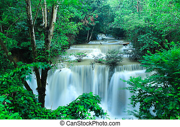 Waterfall after rain in national park, Thailand