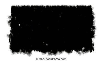 waterfall and black ink, smoke