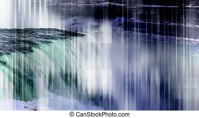 Waterfall and graphic overlay non looping