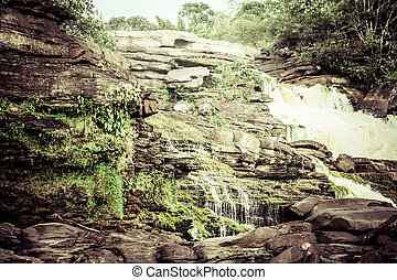 Waterfall and the lagoon of Canaima national park - Venezuela