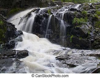 Waterfall Around Stone