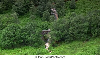 Waterfall At Ardchullarie More, Scotland - Graded Version -...