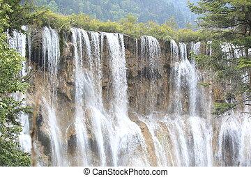 waterfall at jiuzhaigou