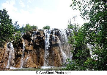 waterfall at jiuzhaigou  valley
