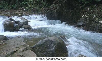 Waterfall at Namtok Phlio National Park Chanthaburi Thailand...