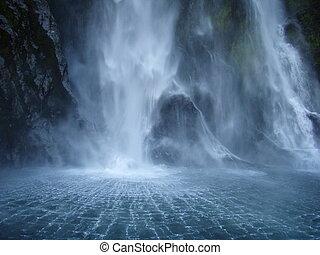 Waterfall backdraft