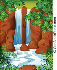 Waterfall background