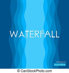 Waterfall background in artistic