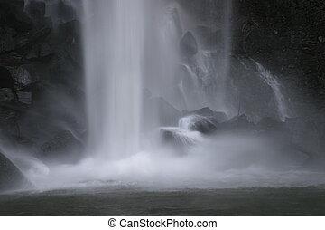 Waterfall base