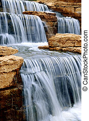 Waterfall - Beautiful cascading waterfall over natural rocks...