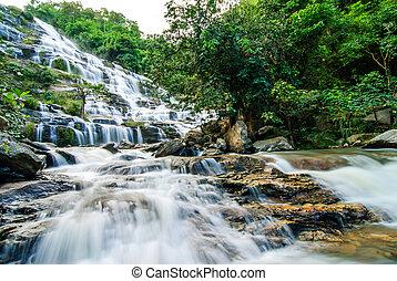 waterfall Beautiful in thailand