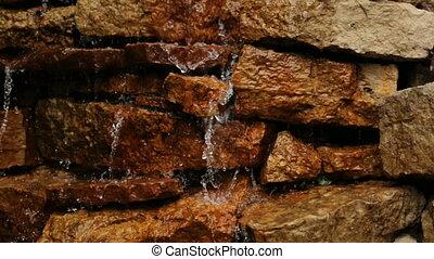 Waterfall Brown stones water relax