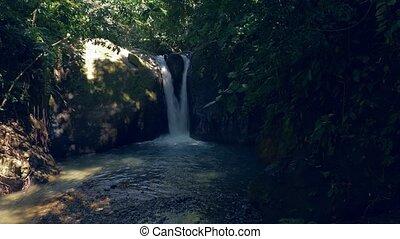 Waterfall, Cascada El Pavon, Costa Rica - Graded and...