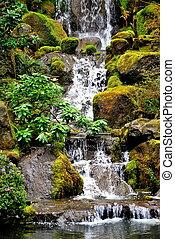 waterfall., cascade