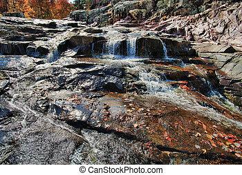 waterfall cascade in missouri - water cascade waterfall at...