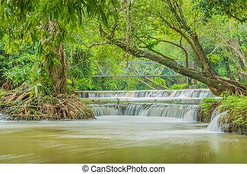 Waterfall - Chet-Sao-Noi waterfall in Khoa Yai National...