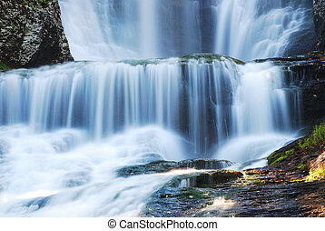Waterfall closeup details. From Digman Falls, Pennsylvania.