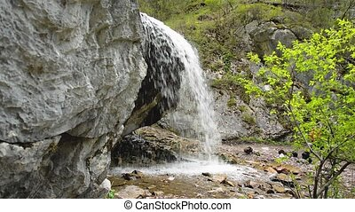 waterfall Creek Altai water - The Che-Chkysh waterfall in...