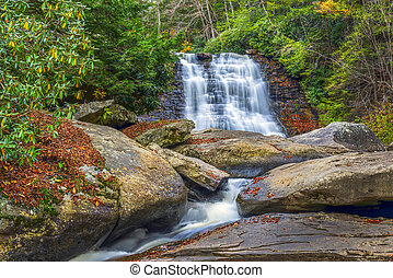 Waterfall during Autumn in the Appalachian mountains