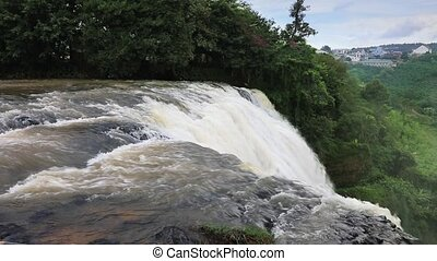 Waterfall Elephant, Vietnam - Track shot of beautiful...
