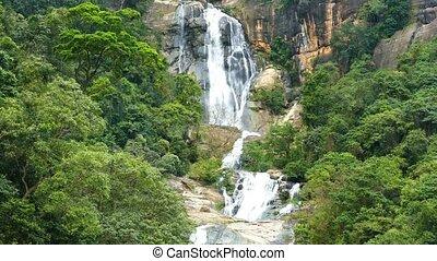 Waterfall Ella in Sri Lanka