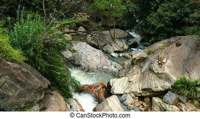 Waterfall Ella in Sri Lanka, tilt view