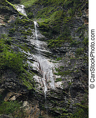 Waterfall Etches a Path in the Himalayas